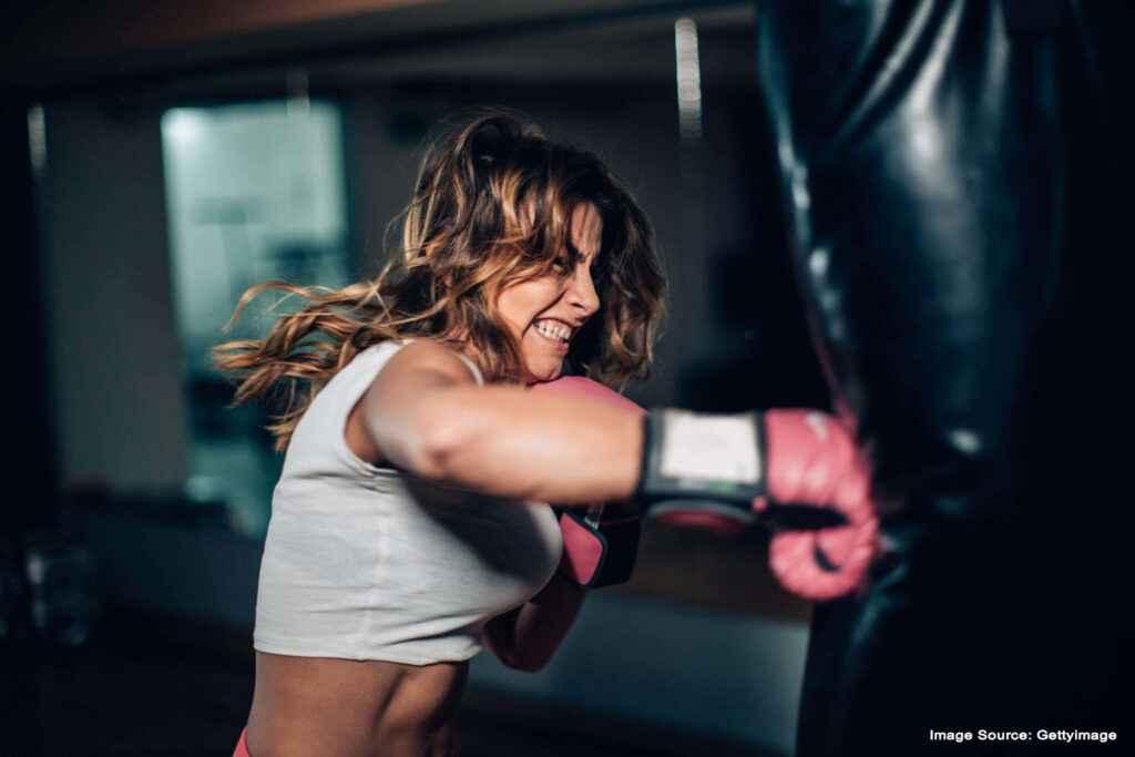 Kick boxing during weight loss