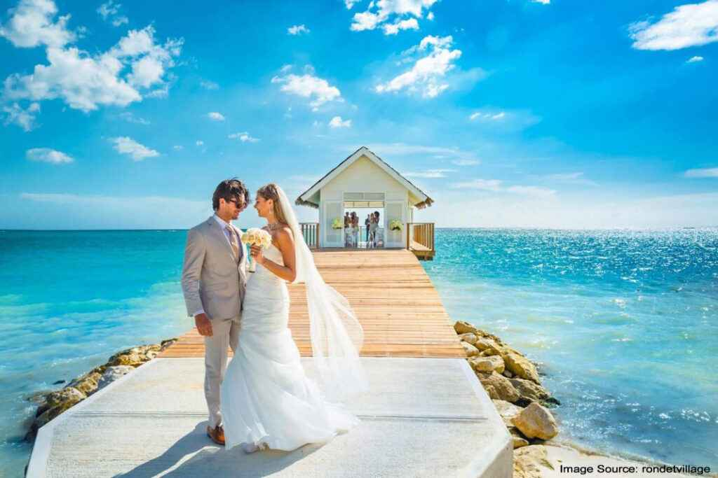 Jamaica is the best beach wedding venue