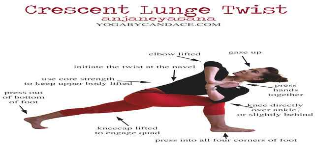 Crescent Lunge Twist Benefits Image