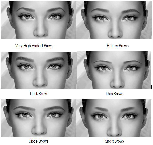 Thick Eyebrows are attractive.