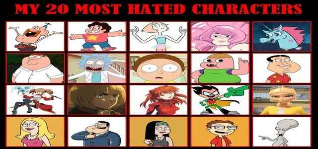 What is the most hated cartoon character