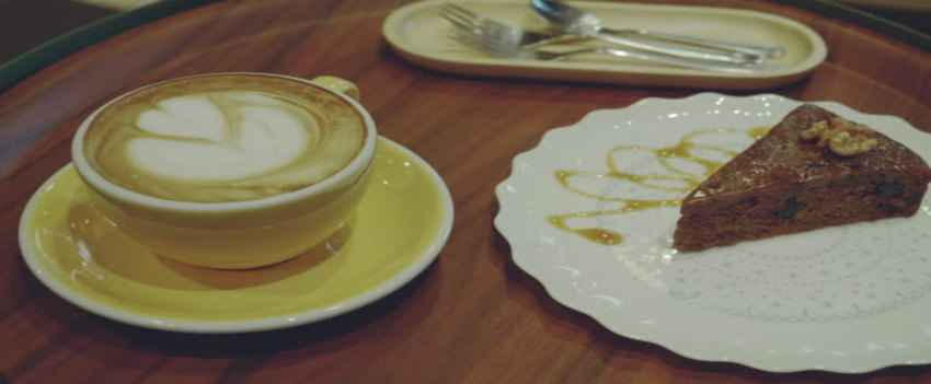 Relax with some, Cake, coffee, and Art